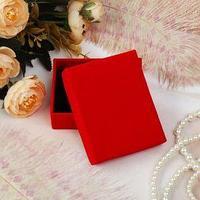 Коробочка подарочная под набор 'Красный бархат', 58 (размер полезной части 4,9х7,8см), цвет красный, вставка