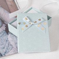 Коробочка подарочная под набор 'Влюбленность', 79 (размер полезной части 6,4х8см), цвет голубой (комплект из