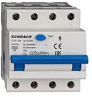 Автоматический выключатель с УЗО 3+N 25А 30мА, фото 1