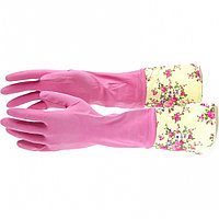 Перчатки хозяйственные, латексные с манжетой, M Elfe