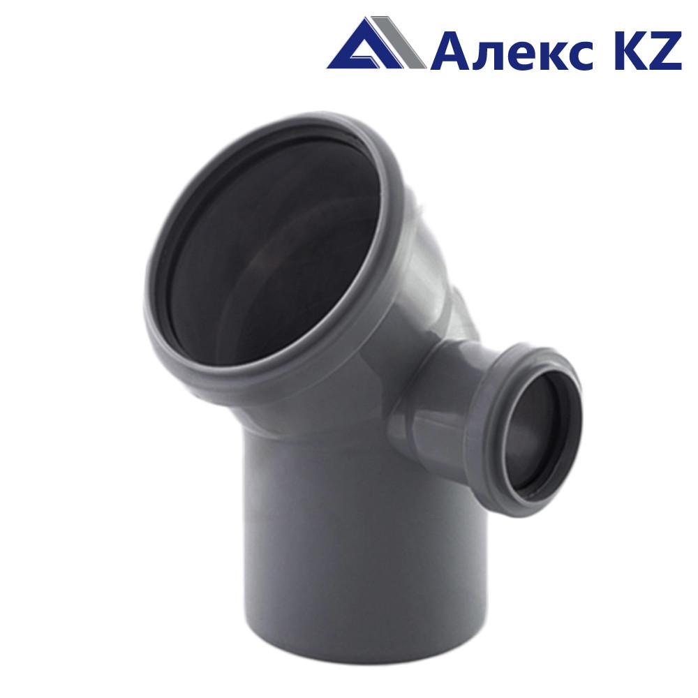 Отвод канализационный  универсальный 110х50*45, правый выход РТП