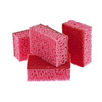 Губки для посуды Coral, 95 х 64 х 36 мм, 4 шт, Россия Elfe