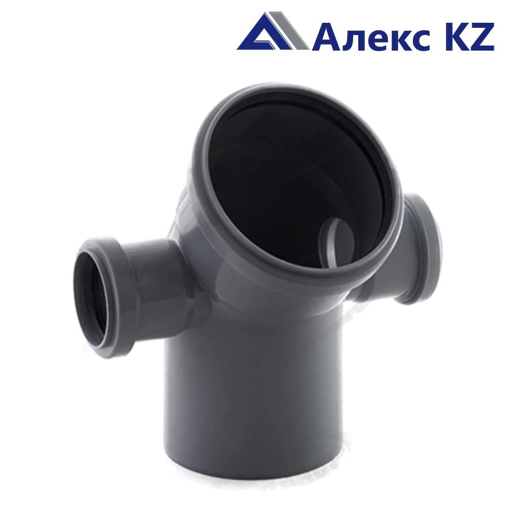Отвод канализационный  универсальный 110х50*45, левый и правый  выход РТП