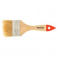 """Кисть плоская Slimline 2,5"""" (63 мм), натуральная щетина, деревянная ручка Sparta"""