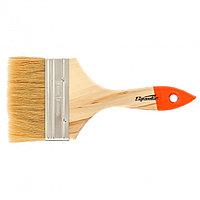 """Кисть плоская Slimline 4"""" (100 мм), натуральная щетина, деревянная ручка Sparta"""