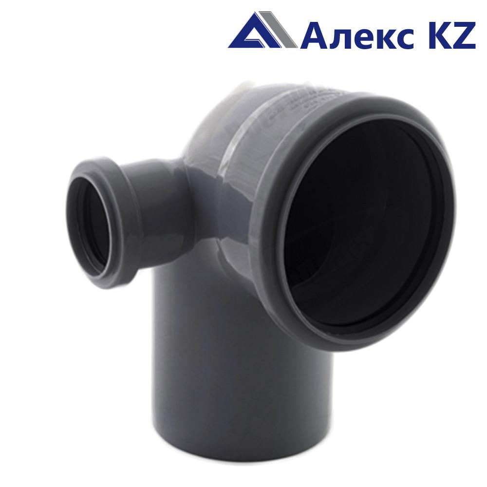 Отвод канализационный  универсальный 110х50*87, левый выход РТП