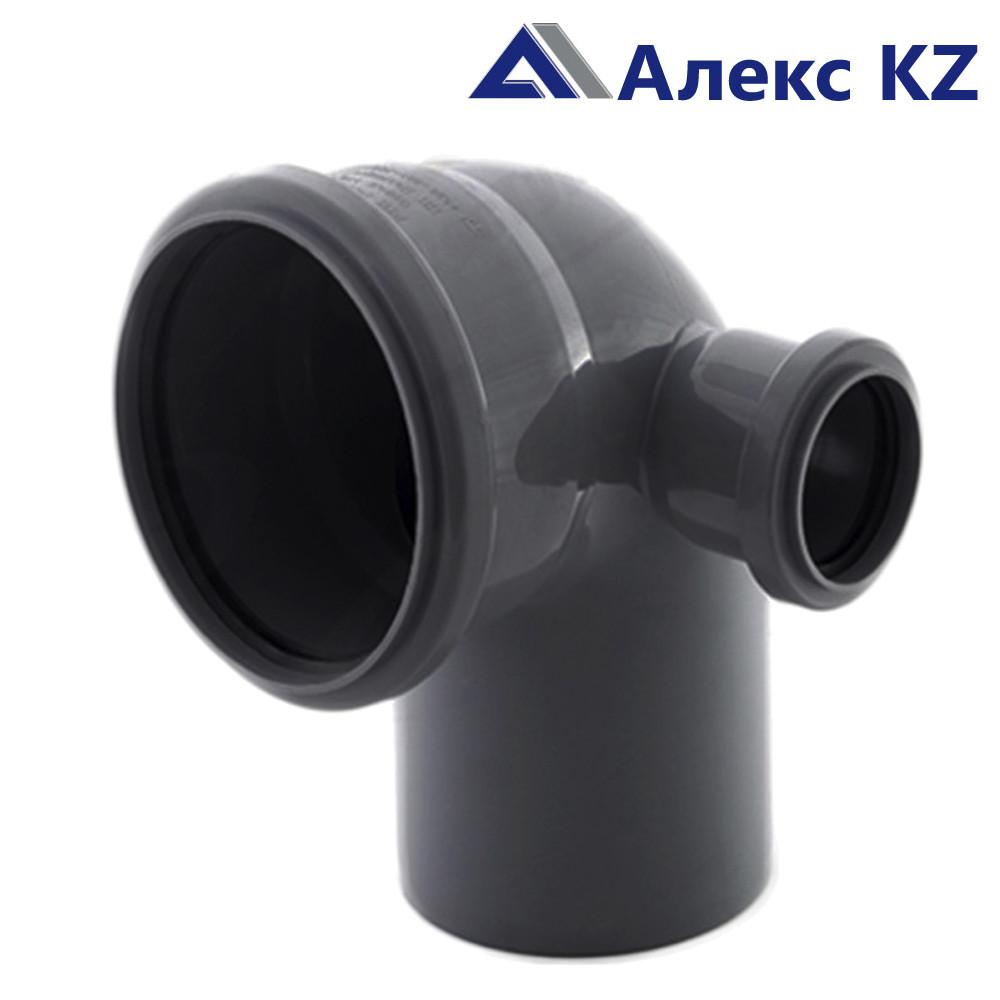Отвод канализационный  универсальный 110х50*87, правый выход РТП