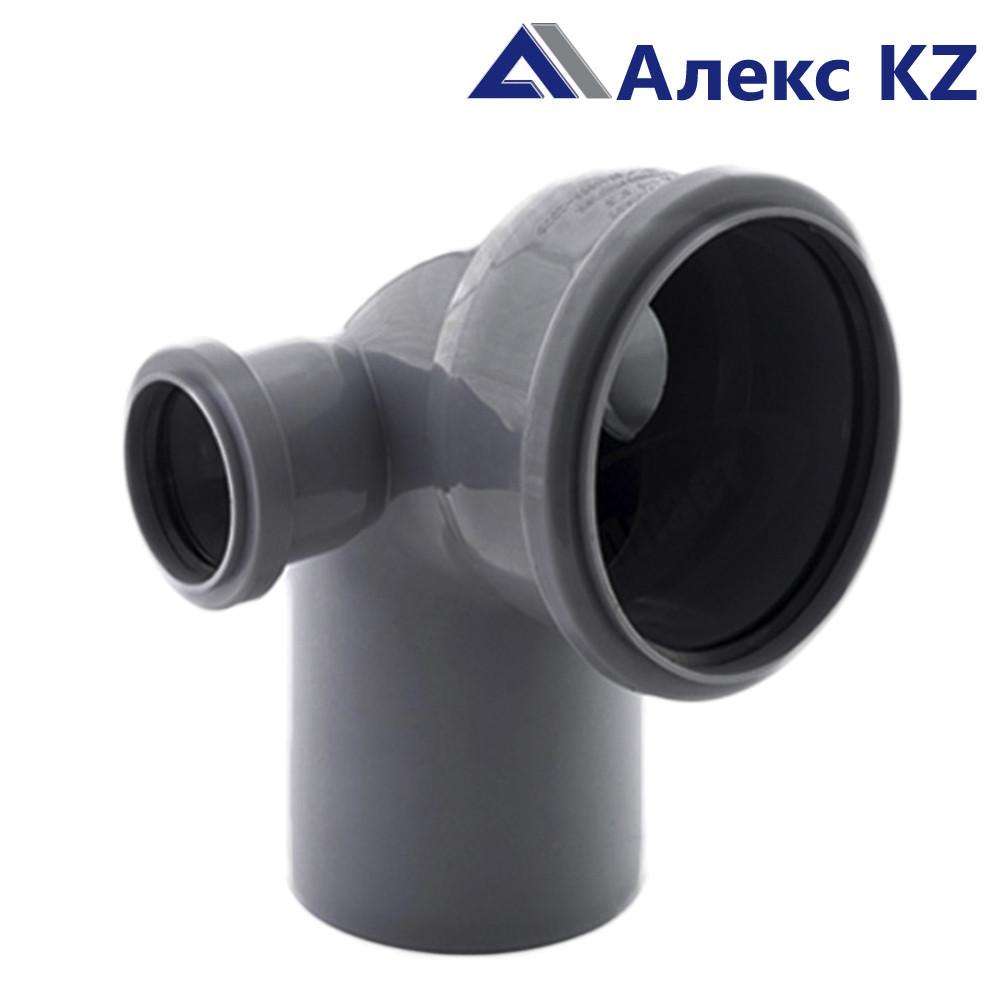 Отвод канализационный  универсальный 110х50*87, левый и правый  выход РТП