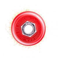 """Щетка для УШМ, 65 мм, М14, """"чашка"""", латунированная витая проволока Matrix"""