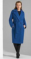 Пальто Lissana-3829, василек, 46
