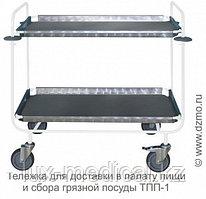 Тележка для доставки в палату пищи и сбора грязной посуды (РОССИЯ) ТПП-1