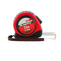 Рулетка Status autostop Magnet, 7,5 м х 25 мм, двухкомпонентный корпус, зацеп с магнитом Matrix
