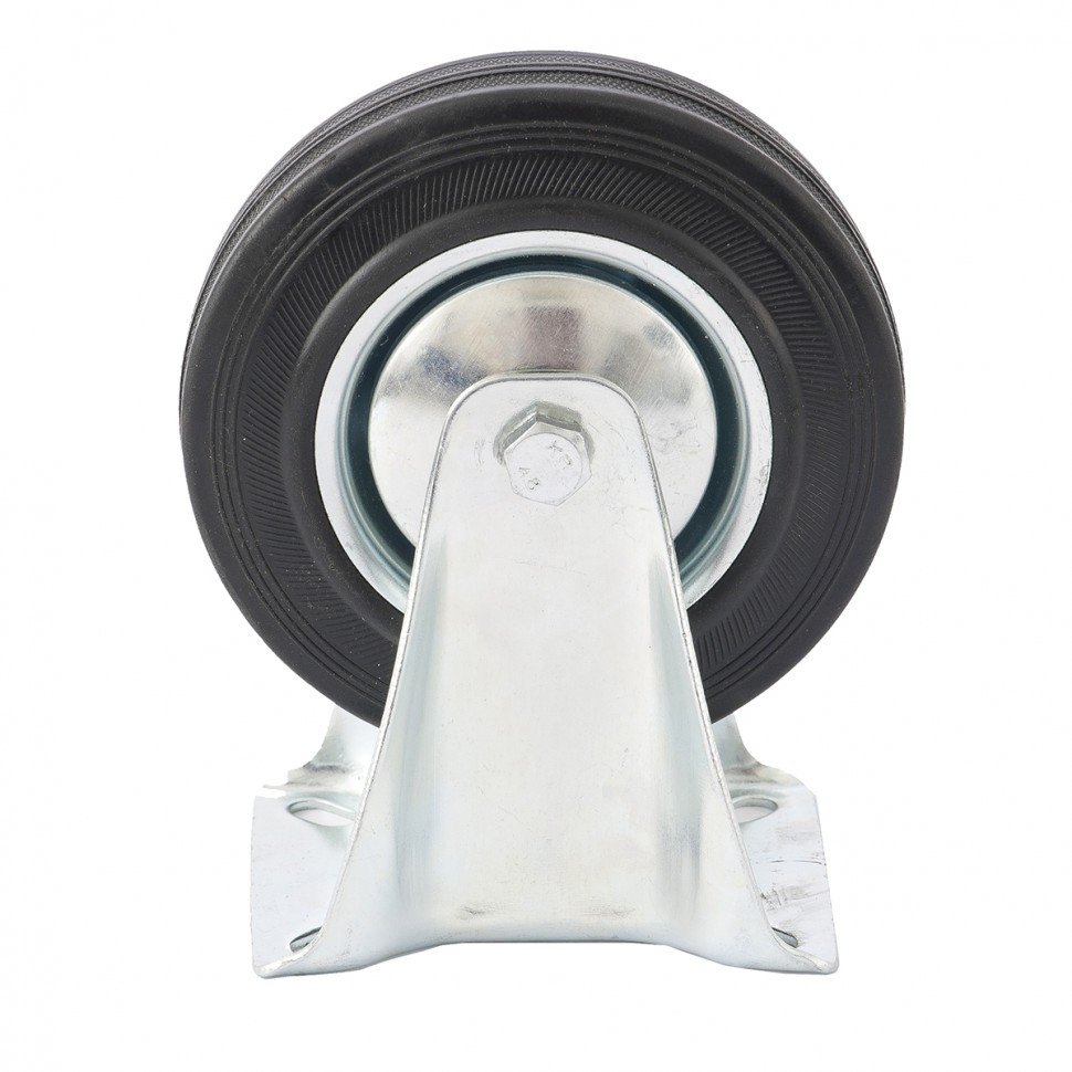 Колесо неповоротное D 125 мм, крепление  платформенное Сибртех