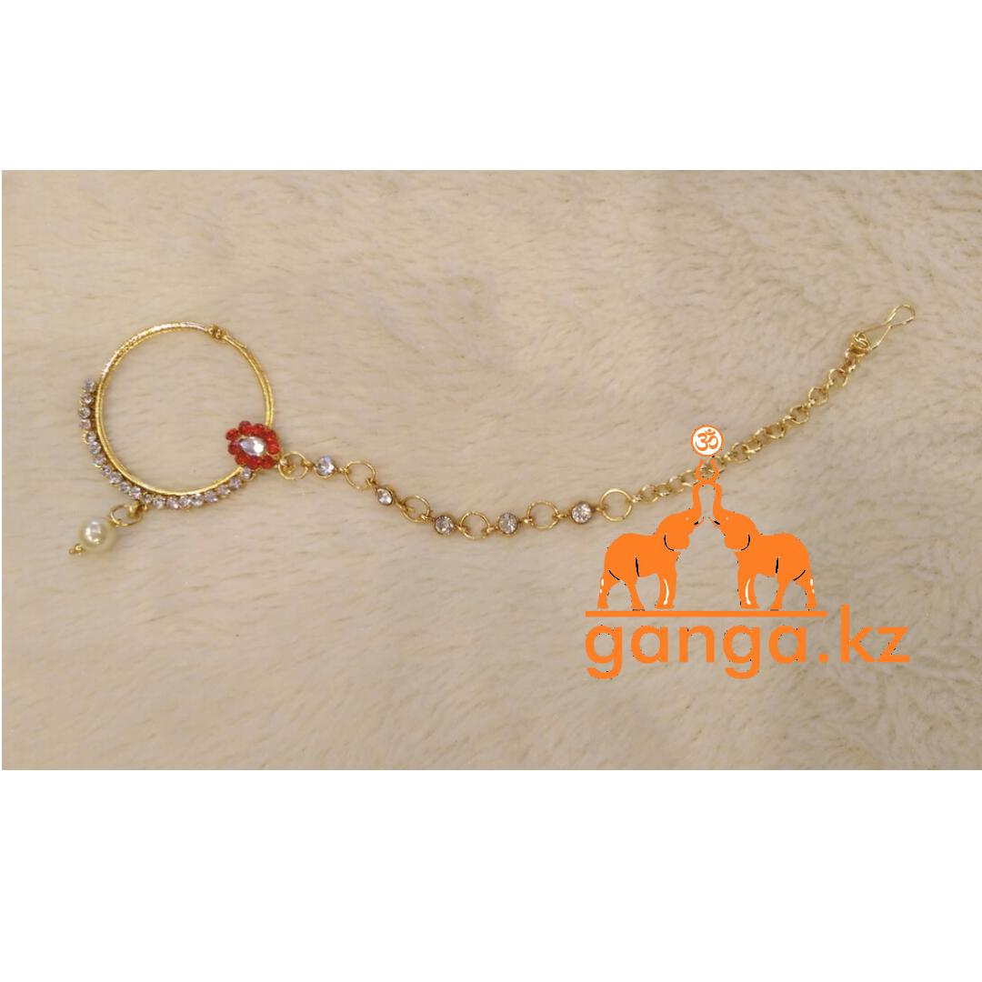 Кольцо в нос (Нат), золотистое, Код 0226