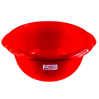 Таз пластмассовый круглый 9 л, красный, Россия Elfe