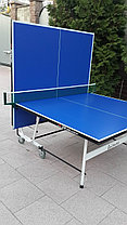Всепогодный теннисный стол складной на колесах, фото 3