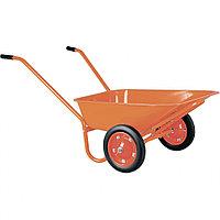 Тачка садово-строительная ТСО2-02-01, крашенная, 2 цельнолитых колеса, 120 кг, 90 л Россия