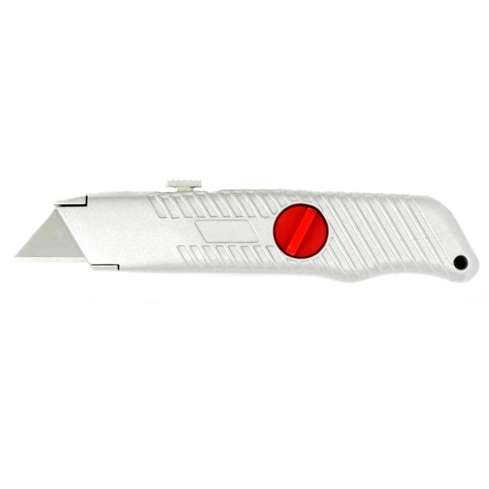 Нож, 19 мм, выдвижное трапециевидное лезвие, металлический корпус Matrix