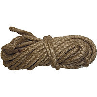 Веревка джутовая, L 10 м, крученая, D 8 мм Россия Сибртех