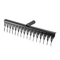 Грабли стальные, 420 мм, 16 витых зубьев, без черенка, Россия Сибртех