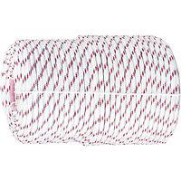 Фал плетеный полипропиленовый с сердечником, 16-прядный, 6 мм, бухта 100 м, 320 кгс Россия Сибртех