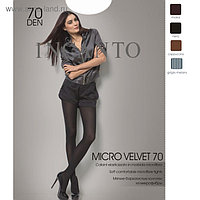 Колготки женские INCANTO MicroVelvet 70 цвет чёрный (nero), р-р 2