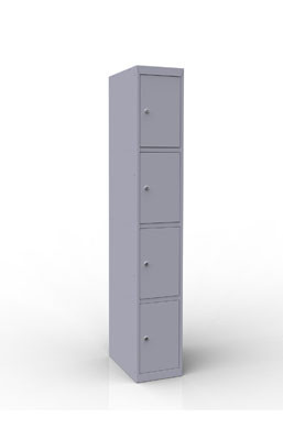 Шкаф металлический для сумок 4 ячейки (300х500х1850) арт. ШР14/300