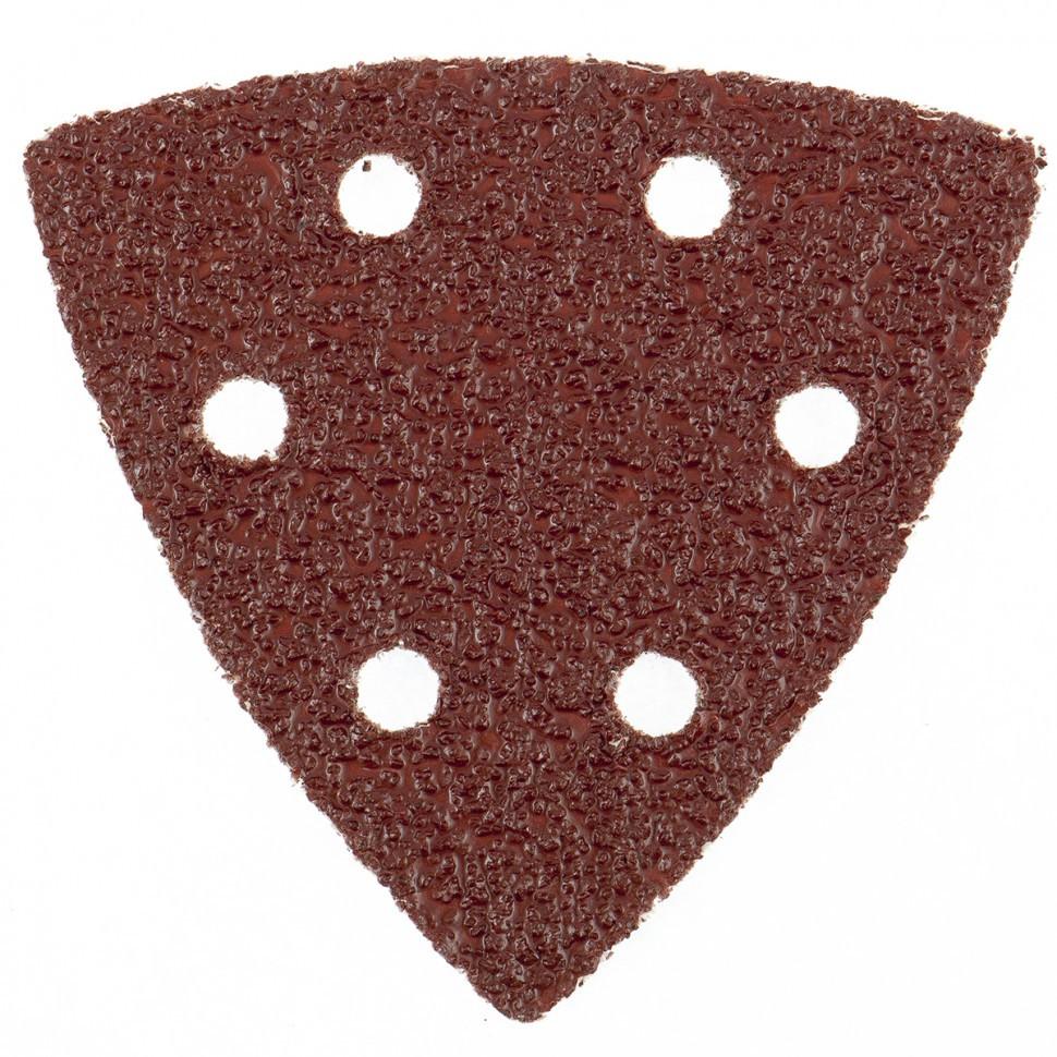 """Треугольник абразивный на ворсовой подложке под """"липучку"""", перфорированный, P 400, 93 мм, 5 шт Matrix"""