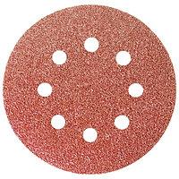 """Круг абразивный на ворсовой подложке под """"липучку"""", перфорированный, P 100, 125 мм, 5 шт Matrix"""