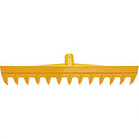 Грабли пластиковые, 430 мм, 13 прямых зубьев, усиленные, без черенка, Luxe Palisad