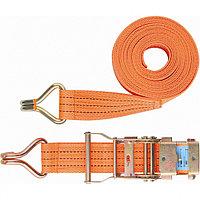 Ремень багажный с крюками, 0,05 х 12 м, с храповым механизмом Россия Stels
