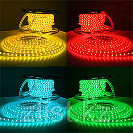 Лента светодиодная SMD 5050, 220v в пвх. Цвет: RGB