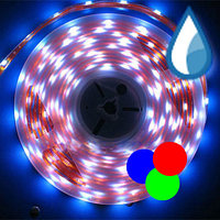 Лента светодиодная SMD 5050, 220v в пвх. Цвет: RGB, фото 4