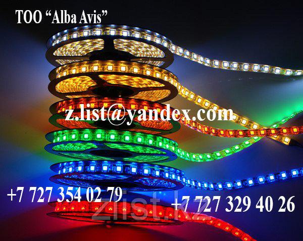 Светодиодная лента SMD3528, 12v герметичная 120 д/метр. Цвет: белый,зеленый,красный,синий,желтый