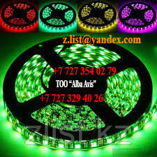 Светодиодная лента SMD 5050, 12v герметичная 60 диодов/метр Цвет: Белый,зеленый,красный,синий,желтый