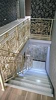 Кованные  металлические лестничные ограждения