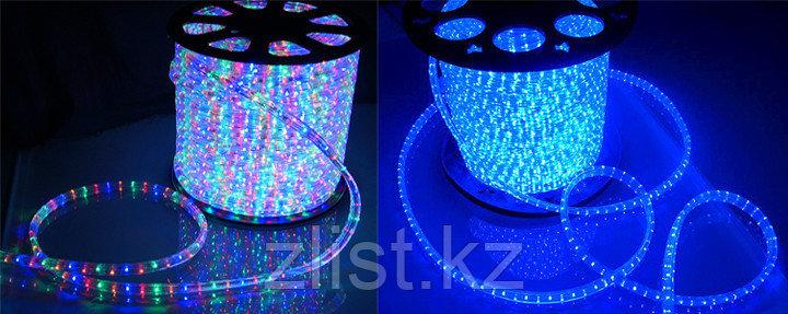 Дюралайт, светодиодный дюралайт, круглый 2-х жильный Синий, RGB (разноцветный)
