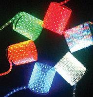 LED Дюралайт плоский 3-х жильный   желтый, красный, фото 4
