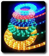 LED Дюралайт плоский 3-х жильный   желтый, красный, фото 6