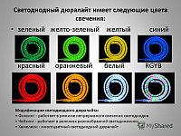 Светодиодный дюралайт плоский 3-х жильный   зеленый, белый, фото 2