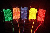 Светодиодный дюралайт плоский 4-х жильный все цвета белый,зеленый,красный,синий,желтый, фото 3