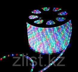 Светодиодный дюралайт плоский 4-х жильный RGB