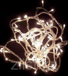 Гирлянды светодиодные, новогодние, уличные струна, нить, twinkle light. 6.5 м. мигающая/не соединяется
