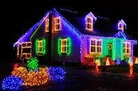 Гирлянды светодиодные, новогодние, уличные струна, нить, twinkle light. 6.5 м. мигающая/не соединяется, фото 4