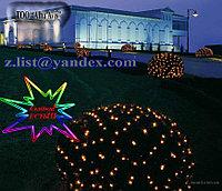 Гирлянды светодиодные, новогодние, уличные сетки, гирлянда сетка, фото 2