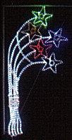 Новогодняя уличная конструкция, арка, растяжка, мотивы, консоль, снежинка, звезда, конструкция, фото 4