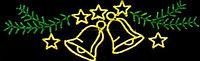 Новогодняя уличная конструкция, арка, растяжка, мотивы, консоль, снежинка, звезда, конструкция, фото 5