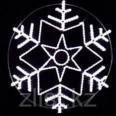 Снежинка новогодняя из дюралайта на металлическом каркасе