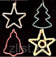 Звезды новогодние конструкции из дюралайта, звезда новогодняя, консоли звезды, звездочка