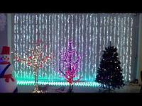 Гирлянды светодиодные, новогодние, уличные Водопад. 3*12 метров RGB, синий, белый, желтый и др. цвета, фото 2